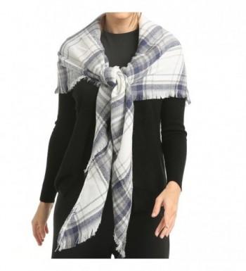 Blanket Scarf Poncho Plaid Women in Fashion Scarves