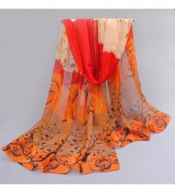 Emubody Beautiful Pattern Chiffon Scarves in Fashion Scarves
