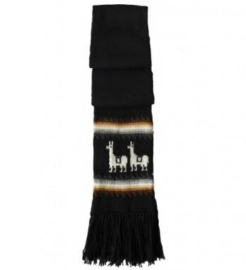 Gamboa Black Llamitas Unisex Alpaca in Fashion Scarves