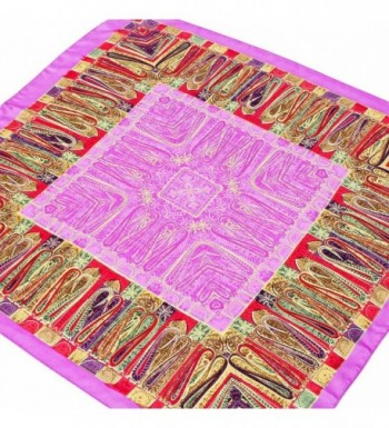 Premium Silky Paisley Square Clothing in Fashion Scarves