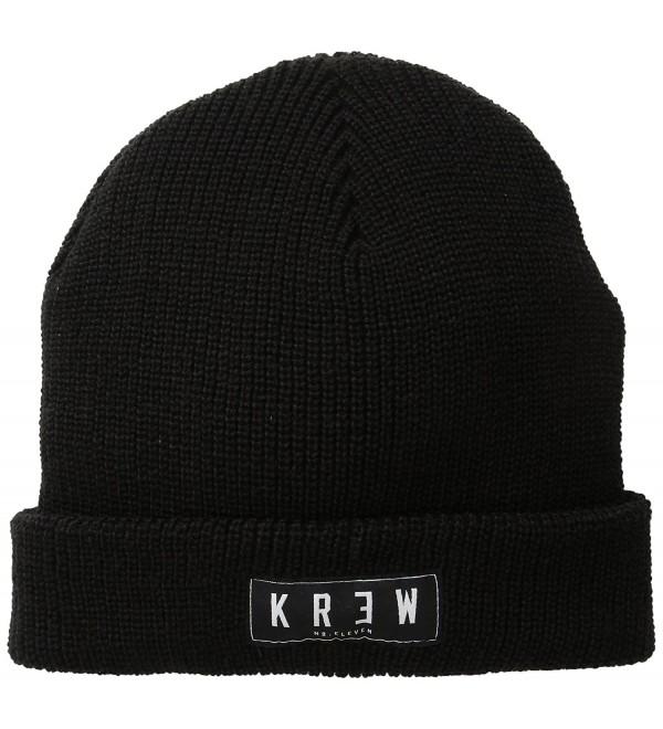 KR3W Men's Cuff Beanie - Black - CH11J0TL12Z