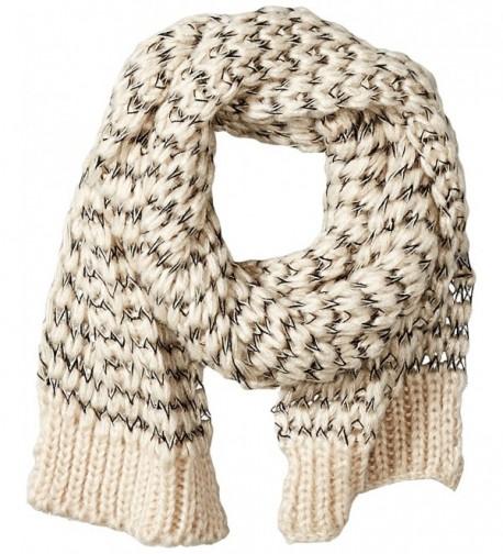 RAMPAGE Women's Loose Knit Oblong Scarf - Ivory - C712HPYKWOT