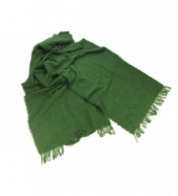 "Long Scarves 84"" Soft Lambswool Blend Multiple Colors Irish Made - Kelly Green - C912O3OW44P"