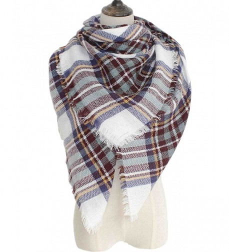 Waprincess Tartan Scarf for Women Winter Plaid Blanket Checked Scarves Wraps Shawl Gift - Plaids 16 - C712NTTAGU3
