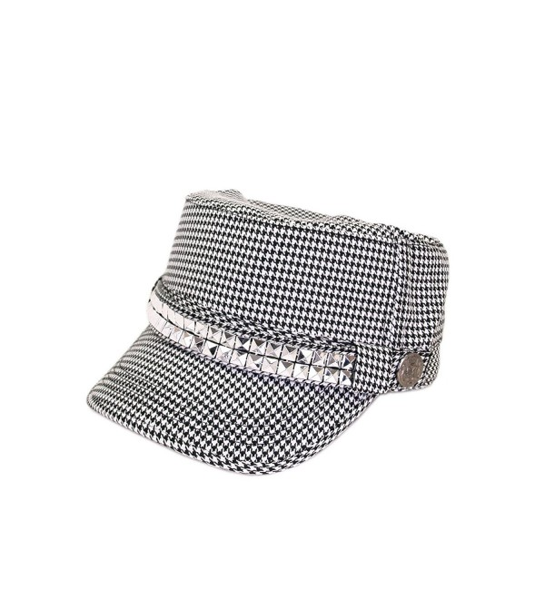 04ff3f75 Adjustable Cotton Military Style Studded Bling Army Cap Cadet Hat - Diff  Colors Avail - Black