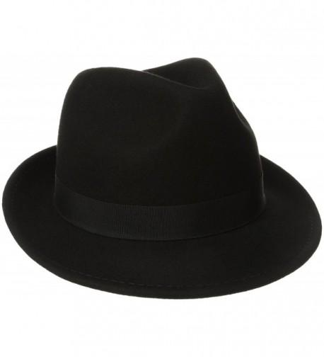 Dorfman Pacific Men's Wool Felt Hat - Black - CU113UWZKD9