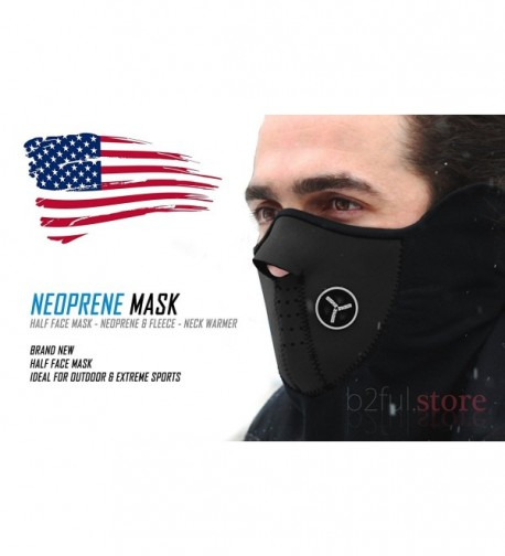 B2Ful Store - NEW Black - Half Face Mask - Motorcycle - Ski - Neck Warmer - CN11JPX9OYD