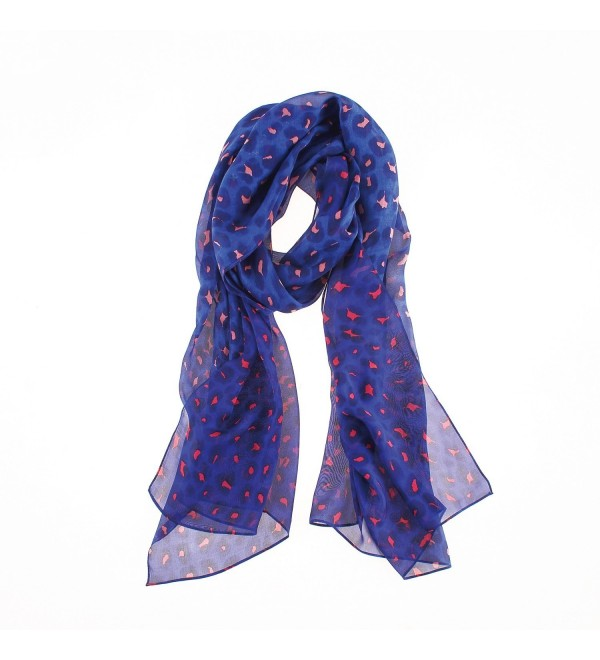 Soft Stylish Shawl Wrap- Lightweight Silk Chiffon Scarf by YS.AU - Blue - C9180QUOHSQ