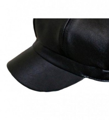 Qunson Womens Vintage Leather Newsboy in Women's Newsboy Caps