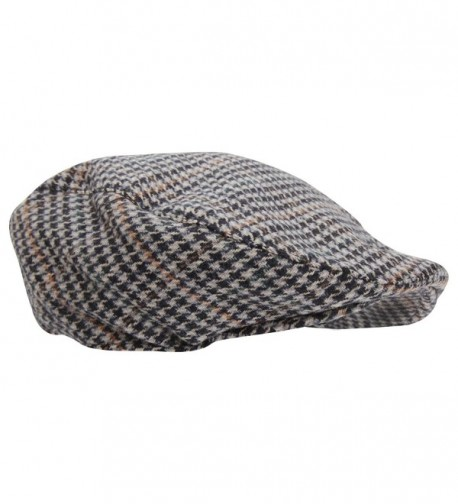 Mens Tweed Wool Blend Flat Cap - Design 5 - C0124R5ADFL