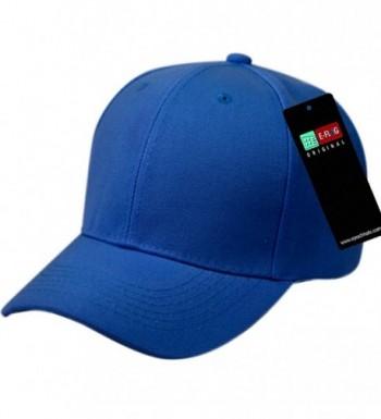 E-Flag Plain Baseball Cap Blank Hat Hats Solid Color Velcro Adjustable - Royal - C212NTC84HC