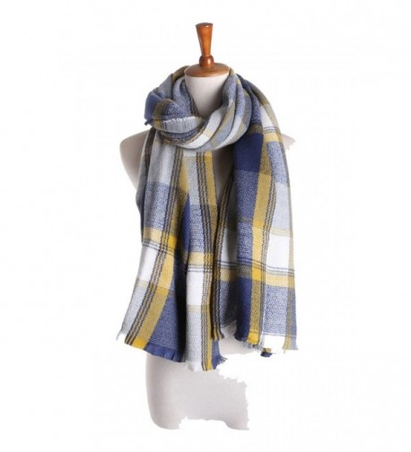 2017 Womens Mens Fashionable Blanket Plaid Winter Scarf Shawl Wrap Scarves - A - CN128TMYCP1