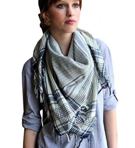 Anika Dali Women's Addison Shemagh Tactical Desert Scarf in Natural Cotton - CL110I7XI5B