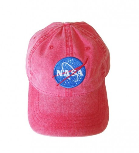 NASA insignia Embroidered Pigment Dyed Cap - Red - CT18438M3HD