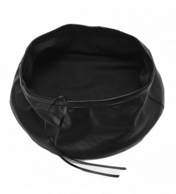 Qiabao Womens Adjustable Leather Beret
