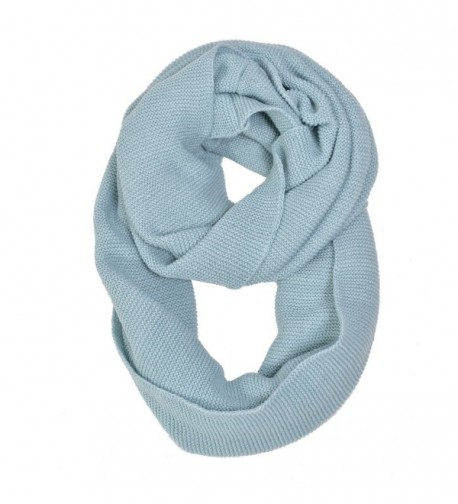 HUE21 Women's Basic Solid Knit Infinity Scarf - Turquoise - CM12OCMLAZ8
