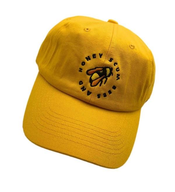 Golf Wang Baseball Cap Bee Embroidered Dad hats Adjustable Snapback Cotton Hat Unisex - Yellow - CV187G8EY7D