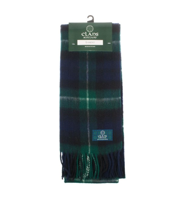 Clans Of Scotland Pure New Wool Scottish Tartan Scarf Lamont (One Size) - CL123BWPO0V