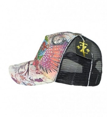 Tatuzone Trucker Rhinestones Studded Printing in Women's Baseball Caps