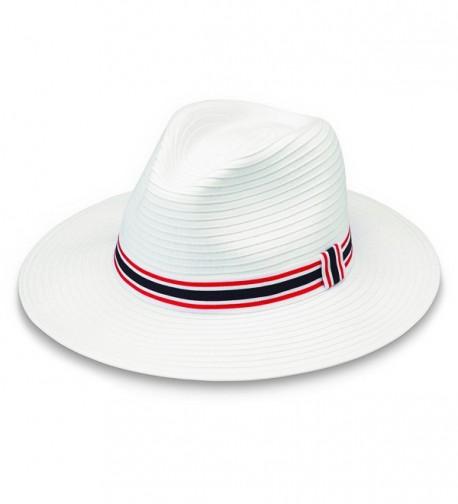 Wallaroo Hat Company Hamilton UPF 50+ Men's Hat - Red/White/Blue - CU186SS03TL