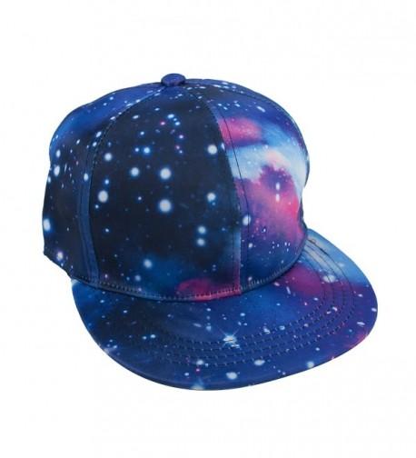 TopTie Unisex Snapback Hat / Flat Bill Baseball Cap- With Space Galaxy Printed - Purple - C5125Q95YFH
