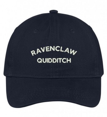 Trendy Apparel Shop Ravenclaw Quidditch Embroidered Soft Cotton Adjustable Cap Dad Hat - Navy - CW12O1I33XY