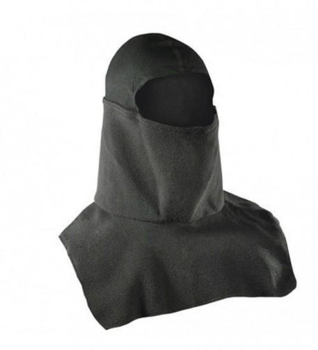 ADULT Fleece Spandex Balaclava Snowdanna Neck & Face Mask Black - CU11MUYB2OJ