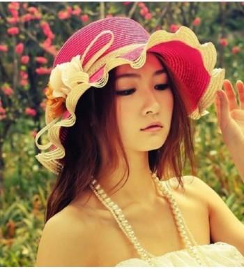 Mystiqueshapes Women Beach Floppy SH03 Pink in Women's Sun Hats
