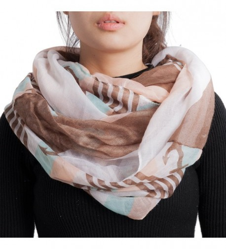 Seven Flowers Stars Printed Infinity Circle Scarf for Women - 7 - CH186CTIN9D