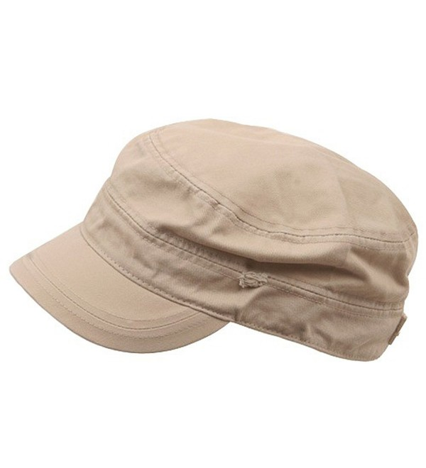 Star Cotton Army Cap-Khaki - CO111QRLY35