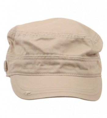 MG Star Cotton Army Cap Khaki in Women's Baseball Caps