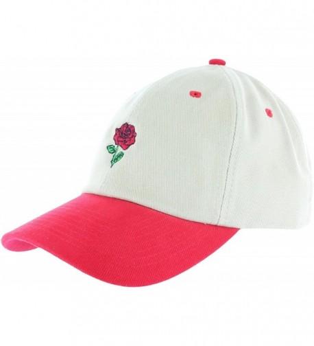 Rose Flower Dad Hat Cap