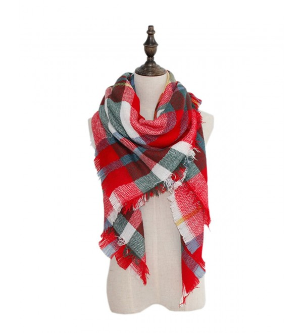 Spring fever Winter Soft Fashion Tartan Checked Plaid Warm Lattice Large Scarf - A27 - C512LA9W805