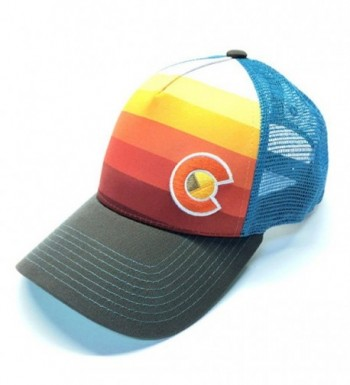 YoColorado Sunset Fader Trucker Hat - Turquoise Blue Mesh - CZ184AKCAR7