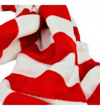 TrendsBlue Soft Knit Striped Scarf