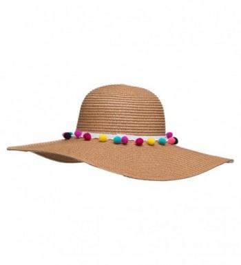 Chic Soul Multi Color Floppy Straw in Women's Sun Hats