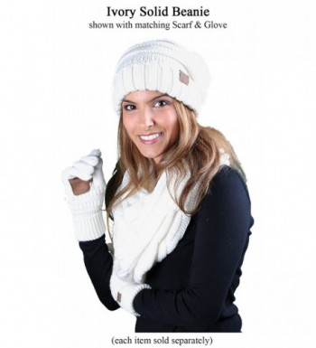 H 6100 25 Oversized Slouchy Beanie Ivory in Cold Weather Scarves & Wraps
