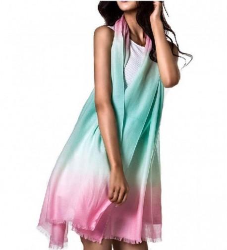 28'' x 78'' Australian Wool Scarf For Womens Long Shawl Wrap Pashmina For Dress - Green Powder - CM128S9NGT3