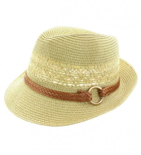 Faddism Fashion Fedora Hat in Tan - CU11MNE3FZF