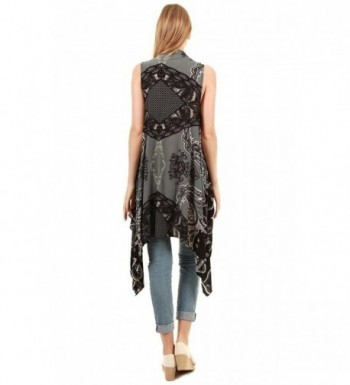 Sleeveless Breezy Chiffon Drapey Paisley in Fashion Scarves