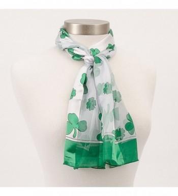 Shamrock Scarf Green Patricks White in Fashion Scarves