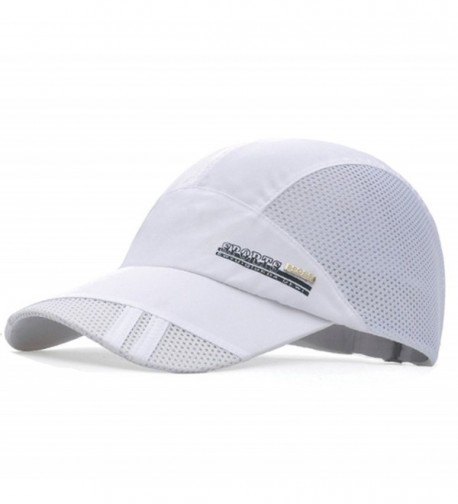 GADIEMENSS Quick Dry Sports Hat Lightweight Breathable Soft Outdoor Running Cap - Classic Series- White - CD182I3YTOK