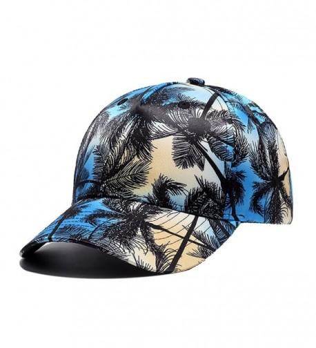 Quanhaigou Printed Baseball Cap-Graffiti Unisex Snapback Flat Bill Hip Hop Hats - Blue Black - CU182ZSK24G