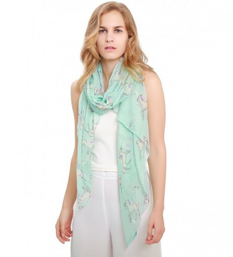 Womens Lightweight Scarf Unicorn MissShorthair