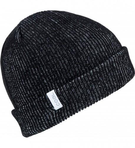 The Binary Fine Knit Beanie Hat - Black 2 - CI12O1V3GZB