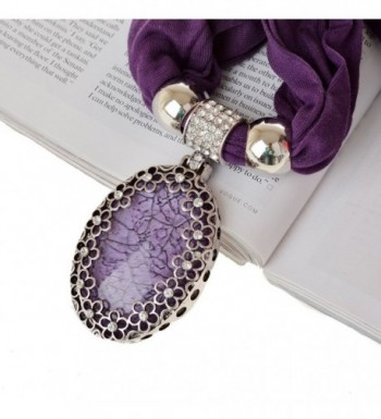 SUMAJU Necklace Scarves Hollowed Rhinestone in Fashion Scarves