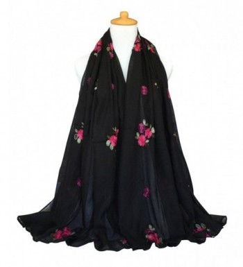 GERINLY Embroidery Womens Spring Florals in Fashion Scarves
