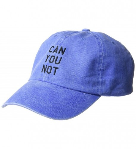 NYC Underground Women's Mineral-Washed Baseball Cap with Verbiage - Blue - CG184CGON66
