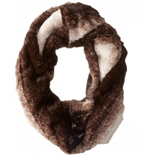 D&Y Women's Ombre Faux-Fur Infinity Scarf - Brown - CX11WF83AHB