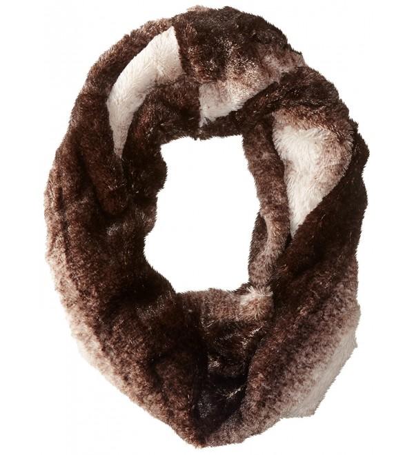 D&Y Women's Ombre Faux-Fur Infinity Scarf - Brown - CX11WF83AHB